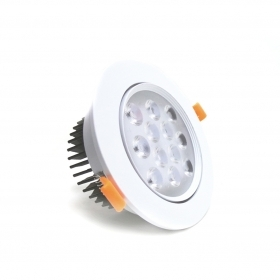 Faretto LED 12W da incasso diametro 138 mm orientabile driver incluso Fi34-12W